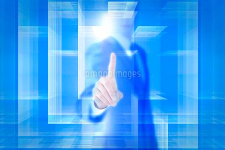 四角形と手 ビジネスマンイメージ CGの写真素材 [FYI01981418]