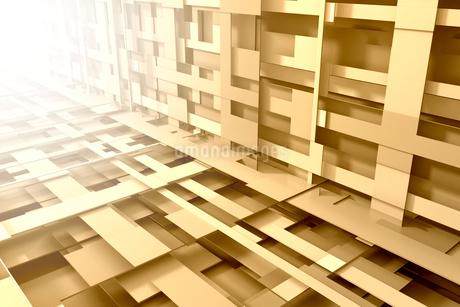 重なり合う立体的な線と光 3DCGのイラスト素材 [FYI01981419]