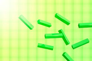 浮かぶ四角柱と光 CGのイラスト素材 [FYI01981620]