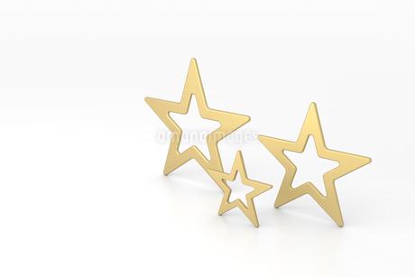 3つの金色の星 CGのイラスト素材 [FYI01981719]