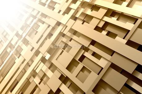 重なり合う立体的な線と光 3DCGのイラスト素材 [FYI01981832]