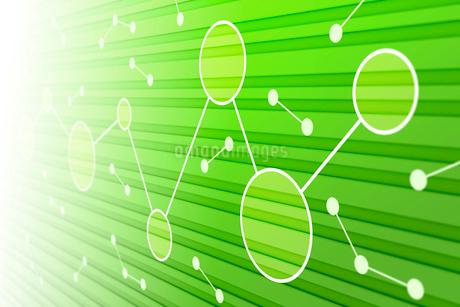 線で繋がる円と光 CGのイラスト素材 [FYI01982475]