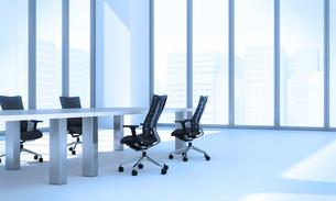 会議室のテーブルと椅子 CGのイラスト素材 [FYI01982623]