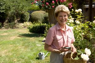 Woman gardeningの写真素材 [FYI01984849]