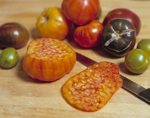 Chopped tomatoesの写真素材 [FYI01985352]
