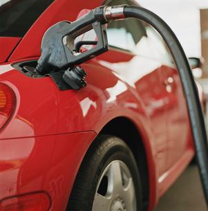 Gas pump filling cars tankの写真素材 [FYI01988387]