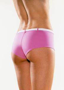 Woman in pink underwearの写真素材 [FYI01989375]