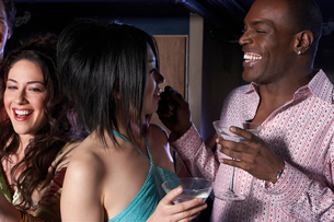 Young adults having fun at nightclubの写真素材 [FYI01989736]