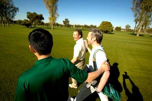 Men golfingの写真素材 [FYI01989863]