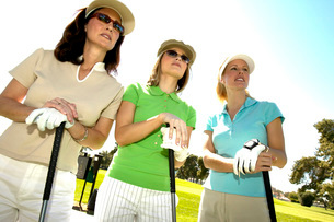 Female golfersの写真素材 [FYI01989929]