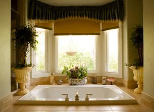 Large hot tub Tub in Master Bathroomの写真素材 [FYI01990184]