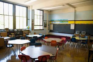 Empty classroomの写真素材 [FYI01991301]