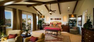 Panoramic of Contemporary Bedroomの写真素材 [FYI01991362]
