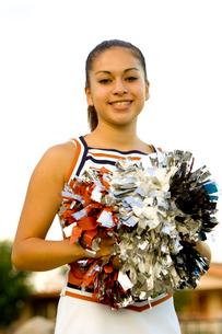 Young woman in cheerleading uniformの写真素材 [FYI01991997]