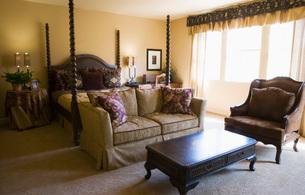 Elegant Master Bedroom with Fourpost Bedの写真素材 [FYI01992129]