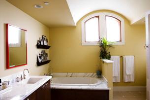 Contemporary Master Bathroomの写真素材 [FYI01992516]