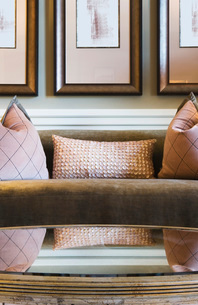Glamorous Feminine Living Roomの写真素材 [FYI01992566]