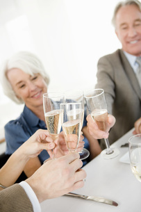 Couples toasting with champagneの写真素材 [FYI01992604]