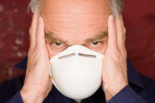 Man wearing maskの写真素材 [FYI01992617]