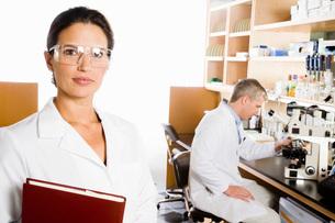scientist wearing protective eyewearの写真素材 [FYI01992817]