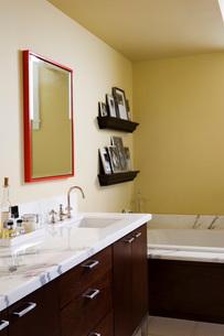Contemporary Master Bathroomの写真素材 [FYI01993021]