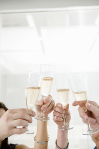 Friends toasting with champagneの写真素材 [FYI01993079]