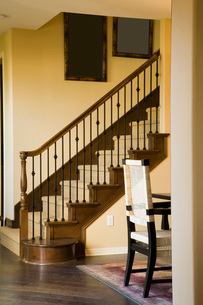View of Staircase and Artworkの写真素材 [FYI01993081]