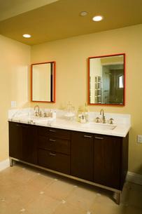 Contemporary Master Bathroom Vanityの写真素材 [FYI01993204]