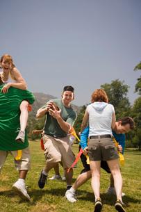 People playing footballの写真素材 [FYI01993341]