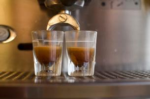 Double espresso shotsの写真素材 [FYI01993476]