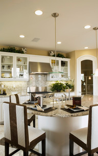 Contemporary Kitchen with Islandの写真素材 [FYI01993583]