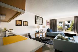 Contemporary Loft Style Apartmentの写真素材 [FYI01993972]