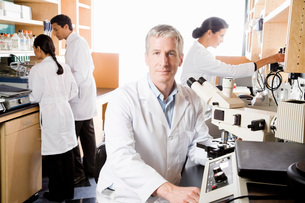 scientists working in laboratoryの写真素材 [FYI01994102]