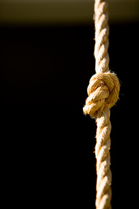 Knot TIed in Rope Climbing Ropeの写真素材 [FYI01994108]
