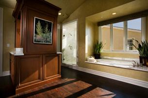 Cotemporary Master Bathroomの写真素材 [FYI01994653]