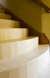 Large Stone Staircase with Railingの写真素材 [FYI01994793]