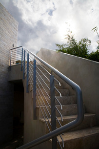 Looking Up Outdoor Staircaseの写真素材 [FYI01994939]