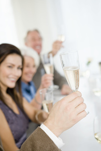 Friends toasting with champagneの写真素材 [FYI01995026]