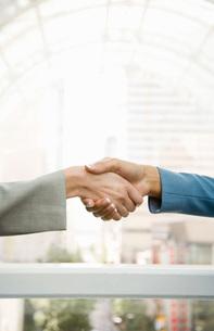 women shaking handsの写真素材 [FYI01995566]