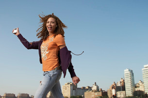 Woman dancingの写真素材 [FYI01995963]