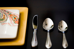 Detail of Place Setting and Flatewareの写真素材 [FYI01996505]