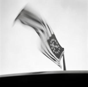 Blurred view of American nautical flagの写真素材 [FYI01996534]