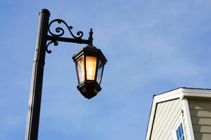Wraught Iron Street Lampの写真素材 [FYI01996541]