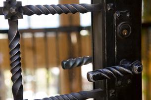Wraught Iron Door and Handleの写真素材 [FYI01996668]