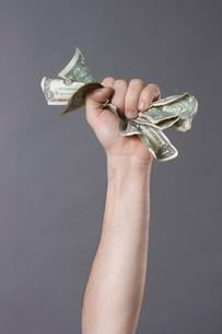 Man holding money in handの写真素材 [FYI01996673]
