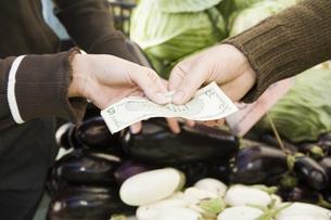 Hands exchanging moneyの写真素材 [FYI01996736]