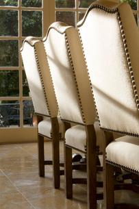 Three Elegant Dining Chairsの写真素材 [FYI01996748]