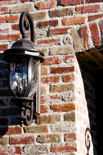 Detail of Wrought Iron Outdoor Lampの写真素材 [FYI01996916]