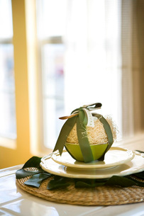 Place Setting with Green Bowlの写真素材 [FYI01997019]