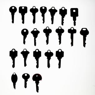 Rows of keysの写真素材 [FYI01997100]
